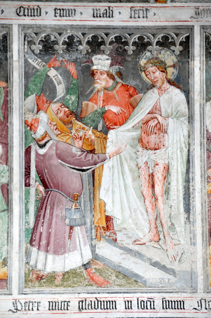 Ecce homo (Fresko von Thomas von Villach aus dem Jahr 1527) an der Nord-Wand der Pfarrkirche Heiliger Andreas - Thörl-Maglern-Greuth, Kärnten (9602-KTN)