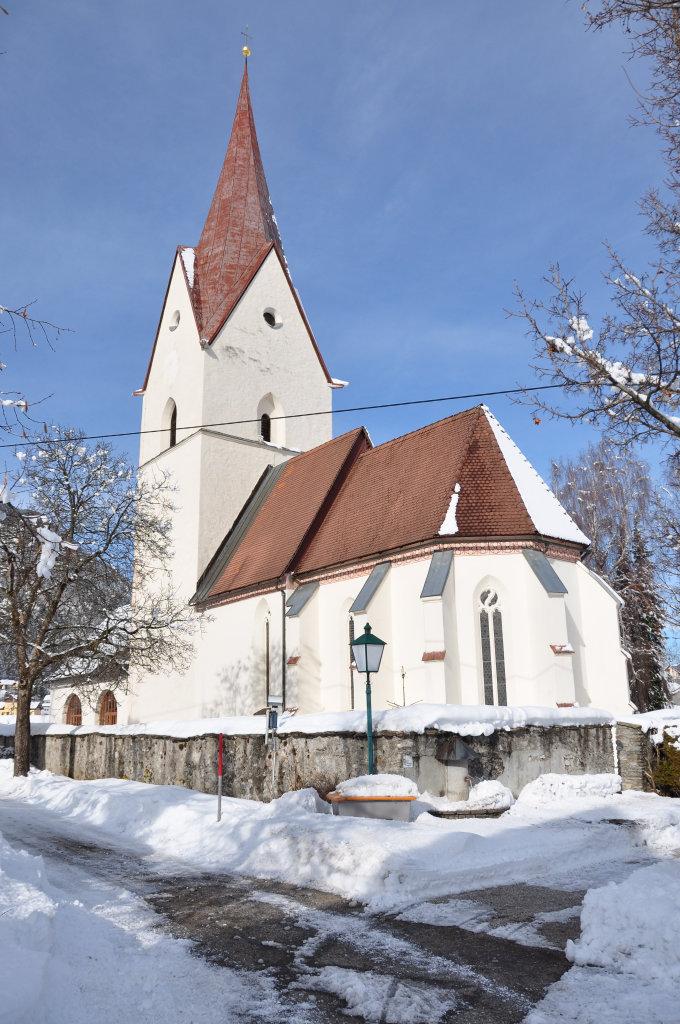 Pfarrkirche Sankt Andrä, Südost-Ansicht - Thörl-Maglern-Greuth, Kärnten (9602-KTN)