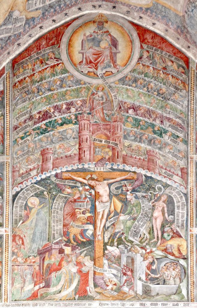 Das lebende Kreuz mit den Engelschören (Fresken von Thomas von Villach) in der Pfarrkirche Sankt Andrä. - Thörl-Maglern-Greuth, Kärnten (9602-KTN)