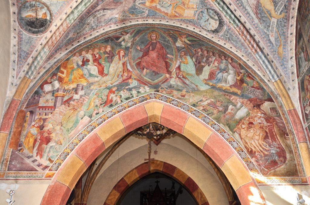 Last Judgment (fresco by Thomas von Villach in 1527) above the triumphal arch of the parish church Saint Andrew - Thörl-Maglern-Greuth, Kärnten (9602-KTN)