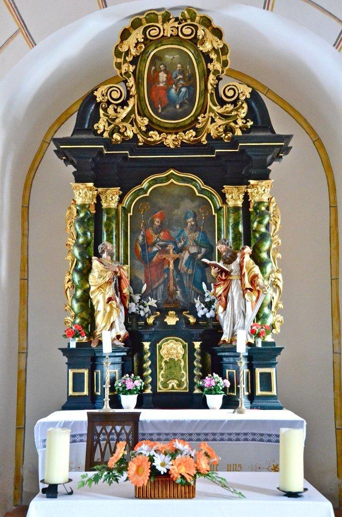 Hochaltar der Filialkirche hll. Ulrich und Martin in Albersdorf - Albersdorf, Kärnten (9535-KTN)