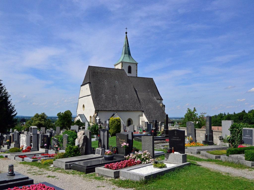 Friedhof und Kirche von Tulbing - Tulbing, Niederösterreich (3001-NOE)