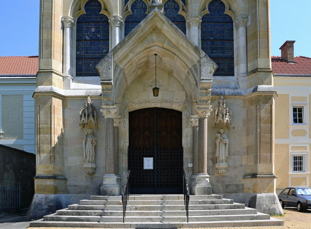Portal zur Kirche, Mayerling, Altes Jagdschloss - Mayerling, Niederösterreich (2534-NOE)