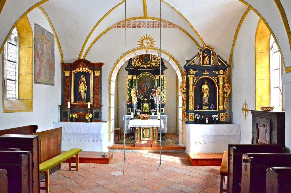 Chor mit Altären in der Filialkirche hll. Ulrich und Martin in Albersdorf - Albersdorf, Kärnten (9535-KTN)