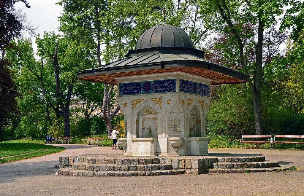 Türkischer Brunnen im Türkenschanzpark in Wien - Türkenschanzpark, Wien (1180-W)