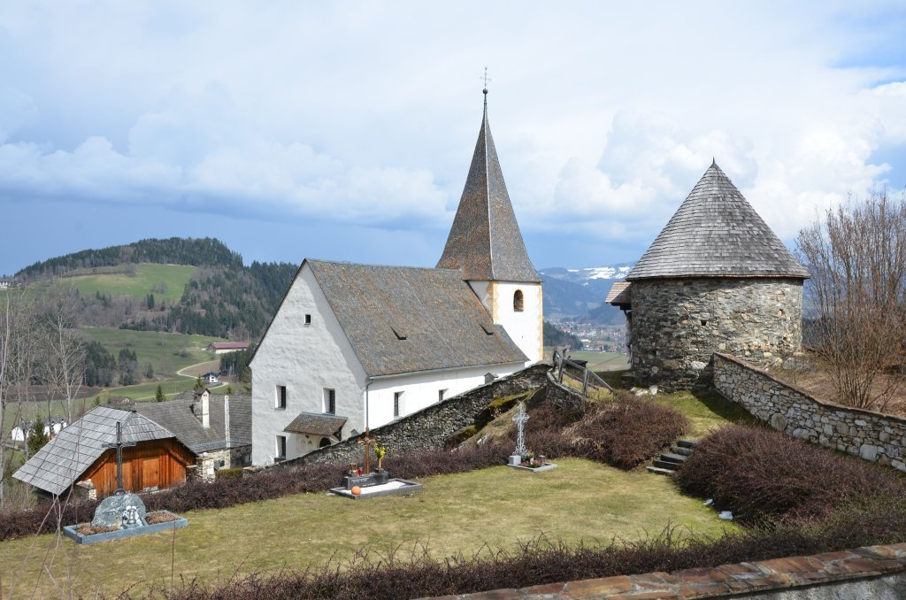 Pfarrkirche hl. Jakob d. Ä. mit Wehrturm - Tiffen, Kärnten (9560-KTN)