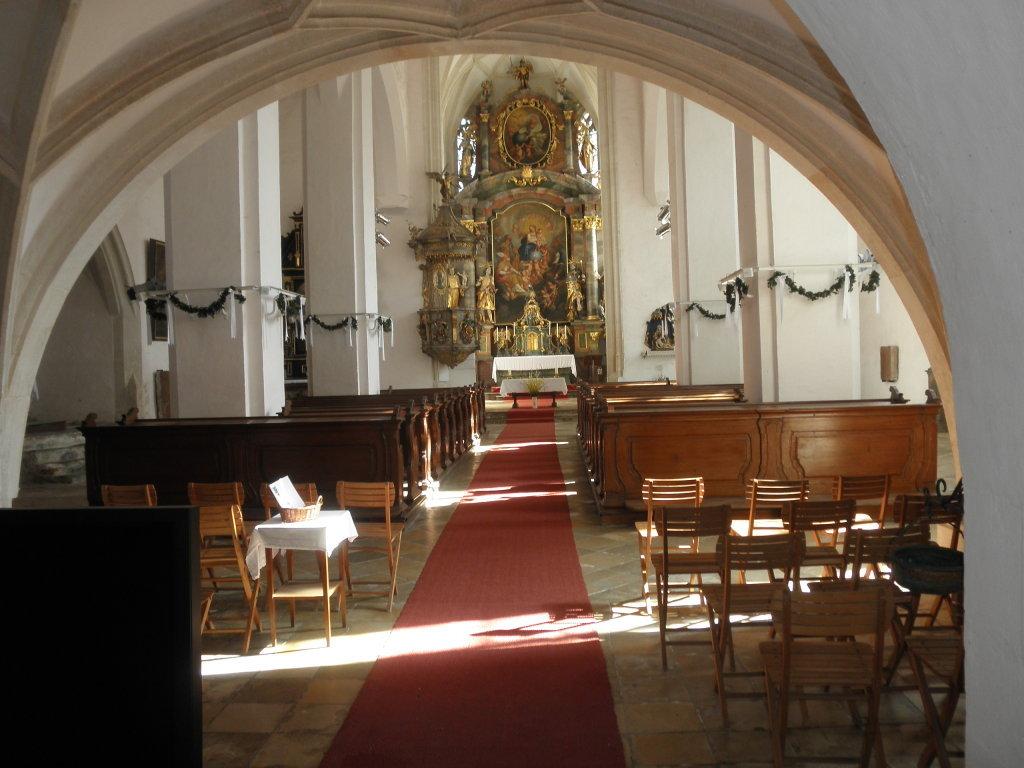 Innenraum der Kirche St. Michael - St. Michael, Niederösterreich (3610-NOE)