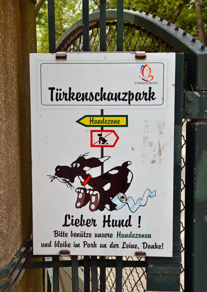Hundezonen im Türkenschanzpark - Türkenschanzpark, Wien (1180-W)