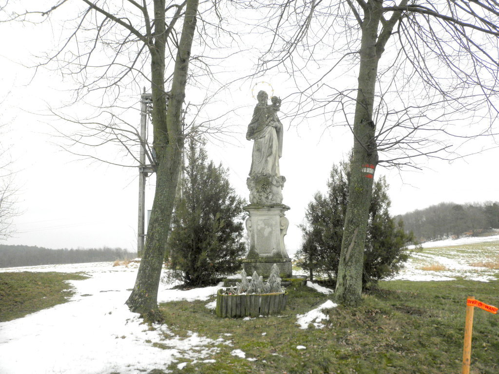 barocke Marienstatue in Wolfshof - Wolfshof, Niederösterreich (3571-NOE)