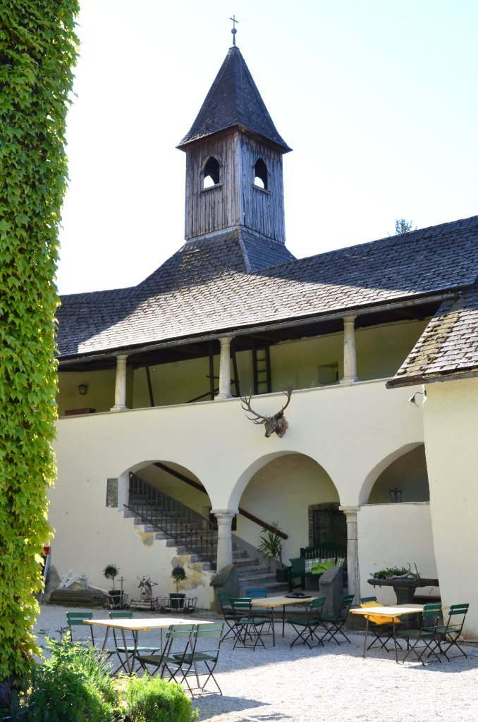 Schloss mit Südflügel, Nord-Ansicht - Moosburg, Kärnten (9062-KTN)