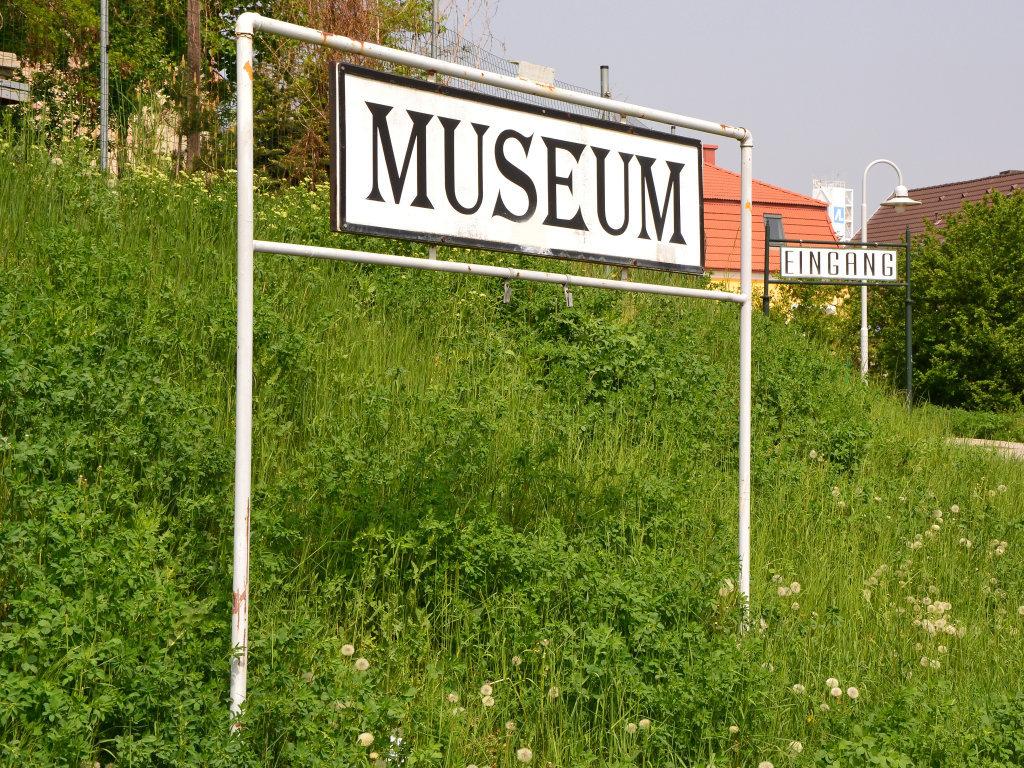 Eingang Eisenbahnmuseum Schwechat - Schwechat, Niederösterreich (2320-NOE)