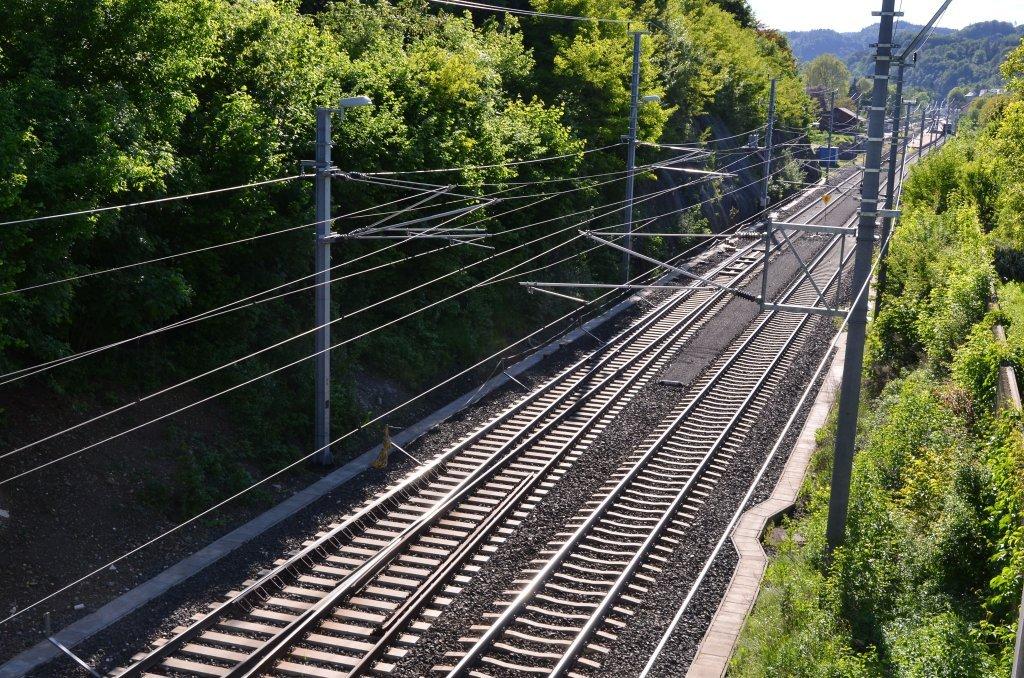 ÖBB-Drautalbahn II mit Bahnhof Pörtschach a. W. - Pörtschach am Wörther See, Kärnten (9210-KTN)