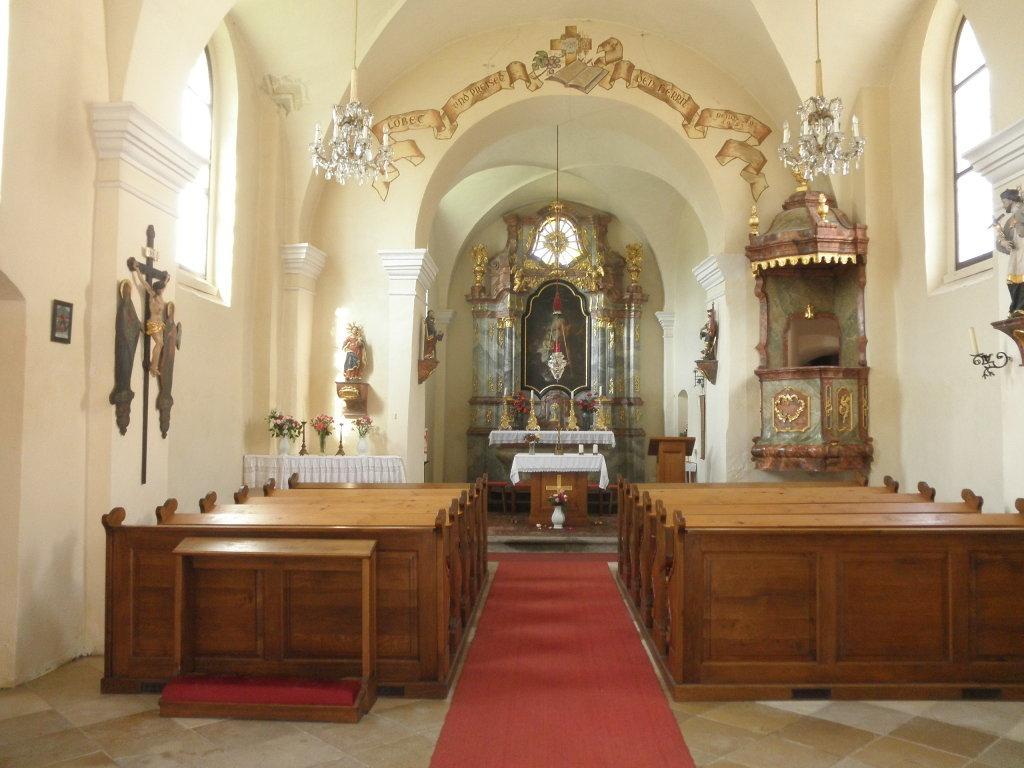 Innenraum der Johanneskirche - Hundsheim, Niederösterreich (3512-NOE)