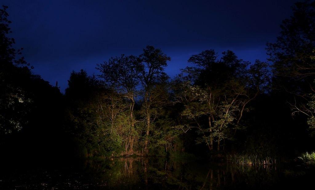 Der Zauberteich bei Nacht. - Mitterretzbach, Niederösterreich (2070-NOE)