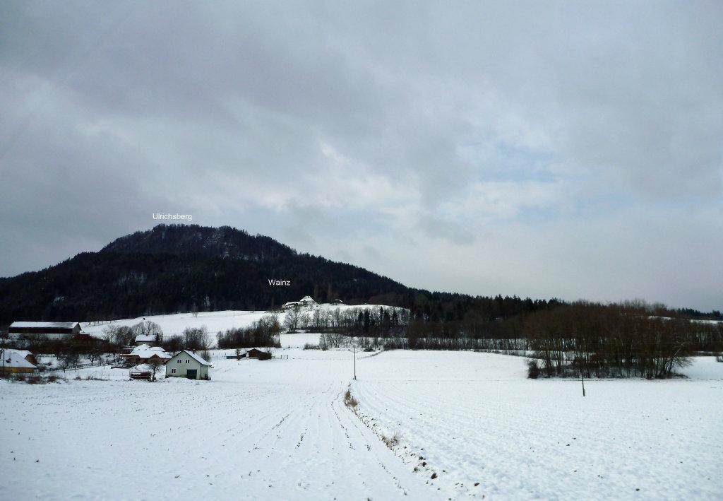Wainz 30. 12. 2014. Wainz ist ein Weiler mit einigen Gebäuden - Wainz, Kärnten (9063-KTN)