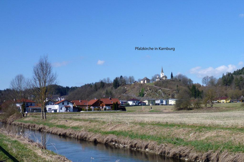 Pfalzkirche Karnburg gesehen vom R7. März 2015 - Karnburg, Kärnten (9063-KTN)
