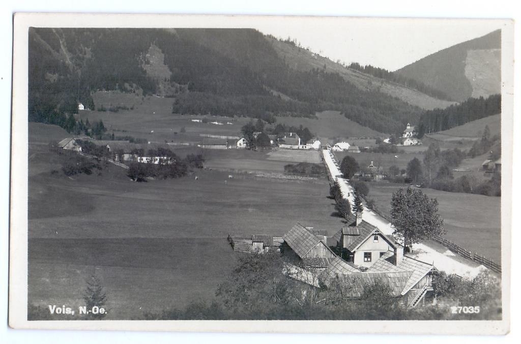 Ansichtskarte aus dem Jahr 1927 - Vois, Niederösterreich (2662-NOE)
