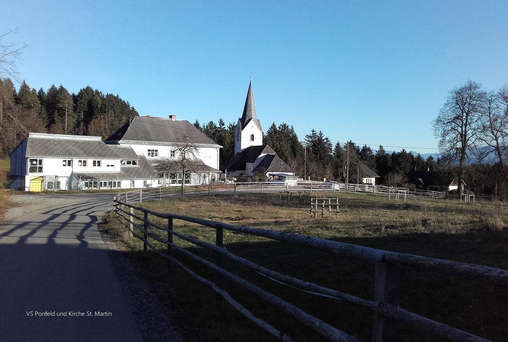Kirche St. Martin und VS 22 - Ponfelderstraße - Ponfeldstraße, Kärnten (9061-KTN)