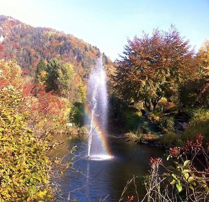 Regenbogenspiel Murpromenade in Frohnleiten .. Nationalfeiertag 26.10. 2015. - Frohnleiten, Steiermark (8121-STM)