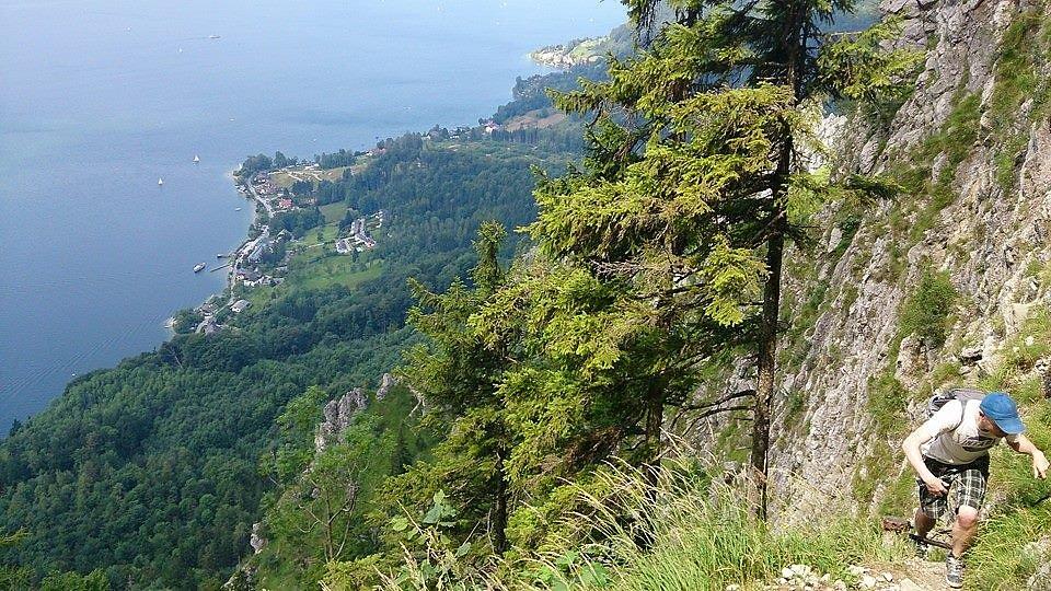 Klettersteig Traunstein : Klettersteig am traunstein ostufer gmunden oberösterreich geo