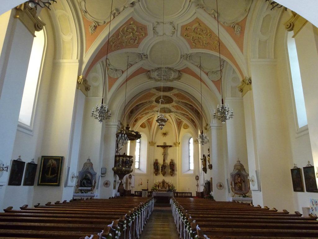 Innenansicht der Pfarrkirche Viechtwang - Viechtwang, Oberösterreich (4644-OOE)