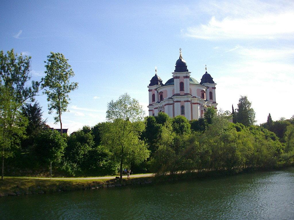 Paura Kirche an der Traun (Wallfahrtskirche Stadl-Paura) - Stadl-Paura, Oberösterreich (4651-OOE)